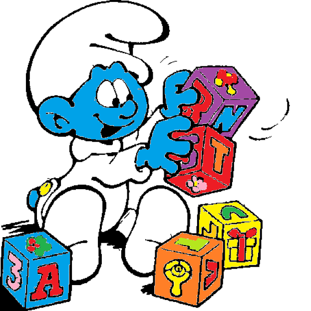 baby smurf plays with blocks by smurfette123 on deviantart