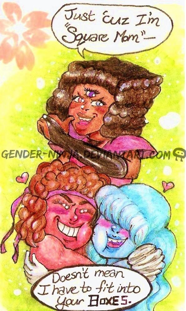 Square Mom understands me -color- by Gender-Ninja