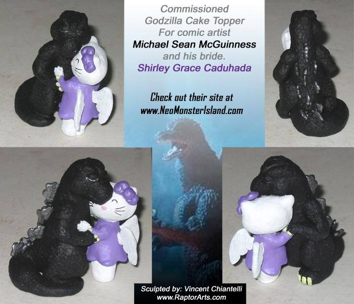 Godzilla Bride Cake Topper