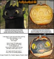 HTTYD Dragon Halloween Pumpkin by RaptorArts