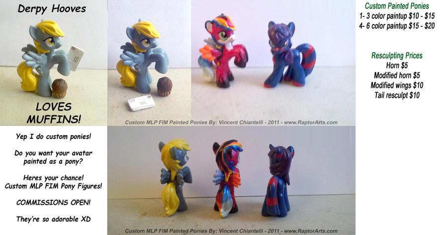 MLP FIM Custom Painted Ponies by RaptorArts