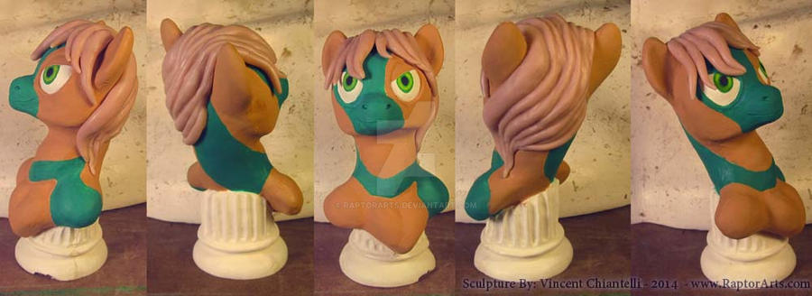 Pony Custom Bust Commission With Attitude Wip by RaptorArts