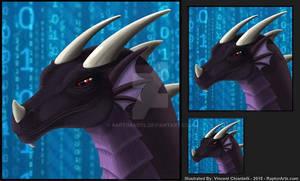 Dragon Headshot Avatar Commission for TmDrake