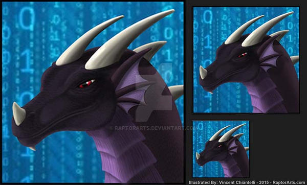 Dragon Headshot Avatar Commission for TmDrake by RaptorArts