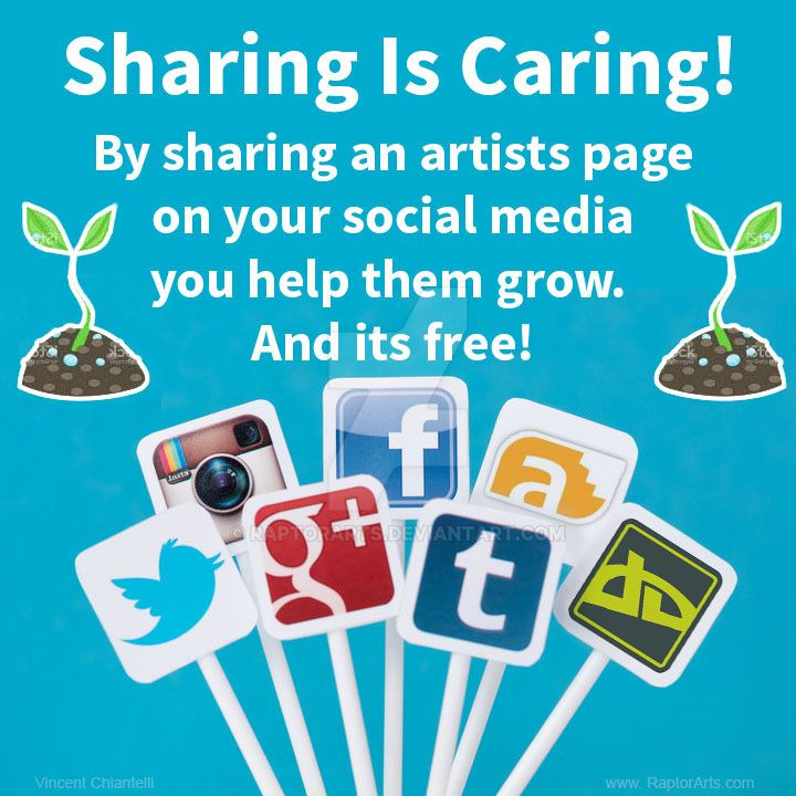 Sharing Is Caring and its FREE! by RaptorArts