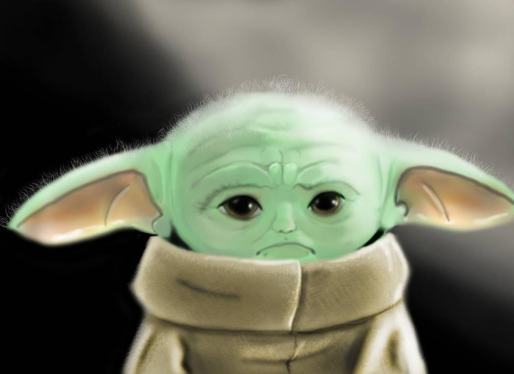 Sad Baby Yoda Speedpaint By Chuythulhu On Deviantart