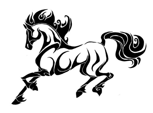 horse tattoo by totalrandomness on deviantart rh totalrandomness deviantart com tribal horse and wolf tattoos horse tribal tattoo