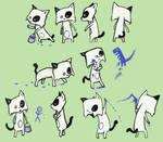 Paint Cat character design