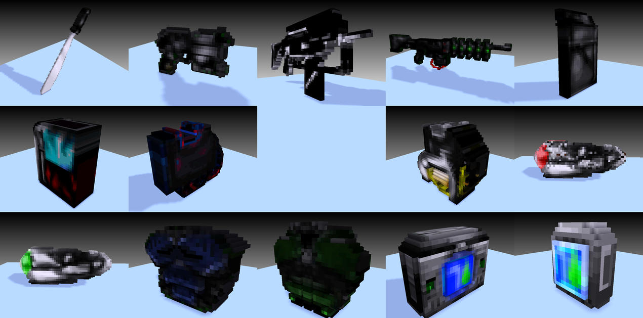 Voxel Items! by EinhanderZwei