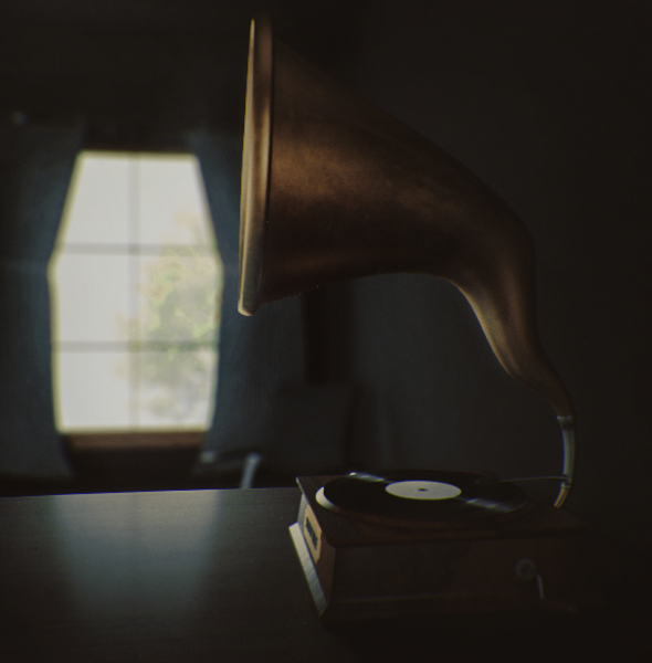Records Player | Realistic render by KhaledReese