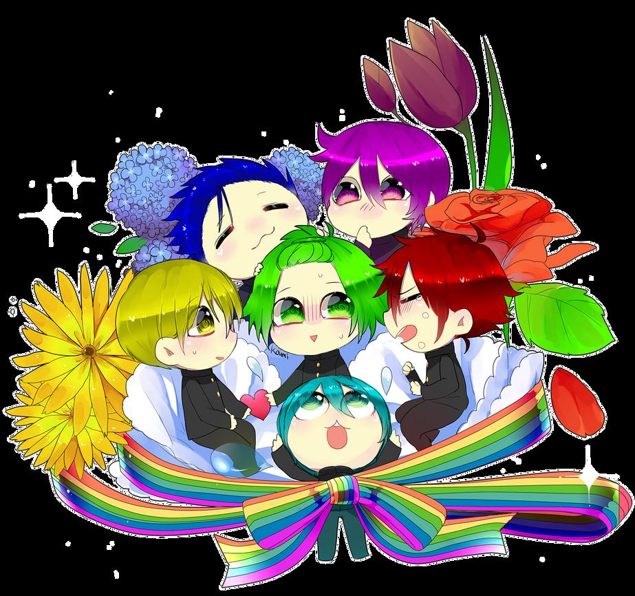 Chibi RainbowGuys by Koumi-senpai