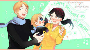 Happy Birthday to my Kohai by Koumi-senpai