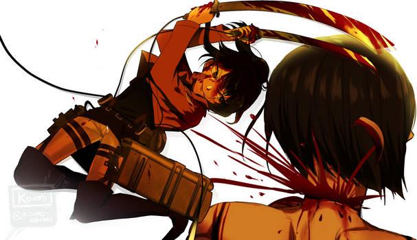 crossover Attack on Titan by Koumi-senpai