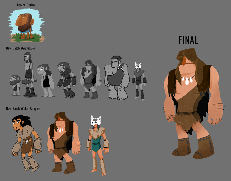 Caveman Concept Art : Caveman character design concept by aok faithtality on
