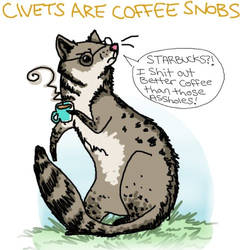 Civets are coffee snobs
