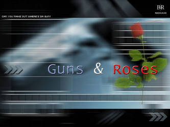 Roses are Dead.. gun with ros by pulsetemple