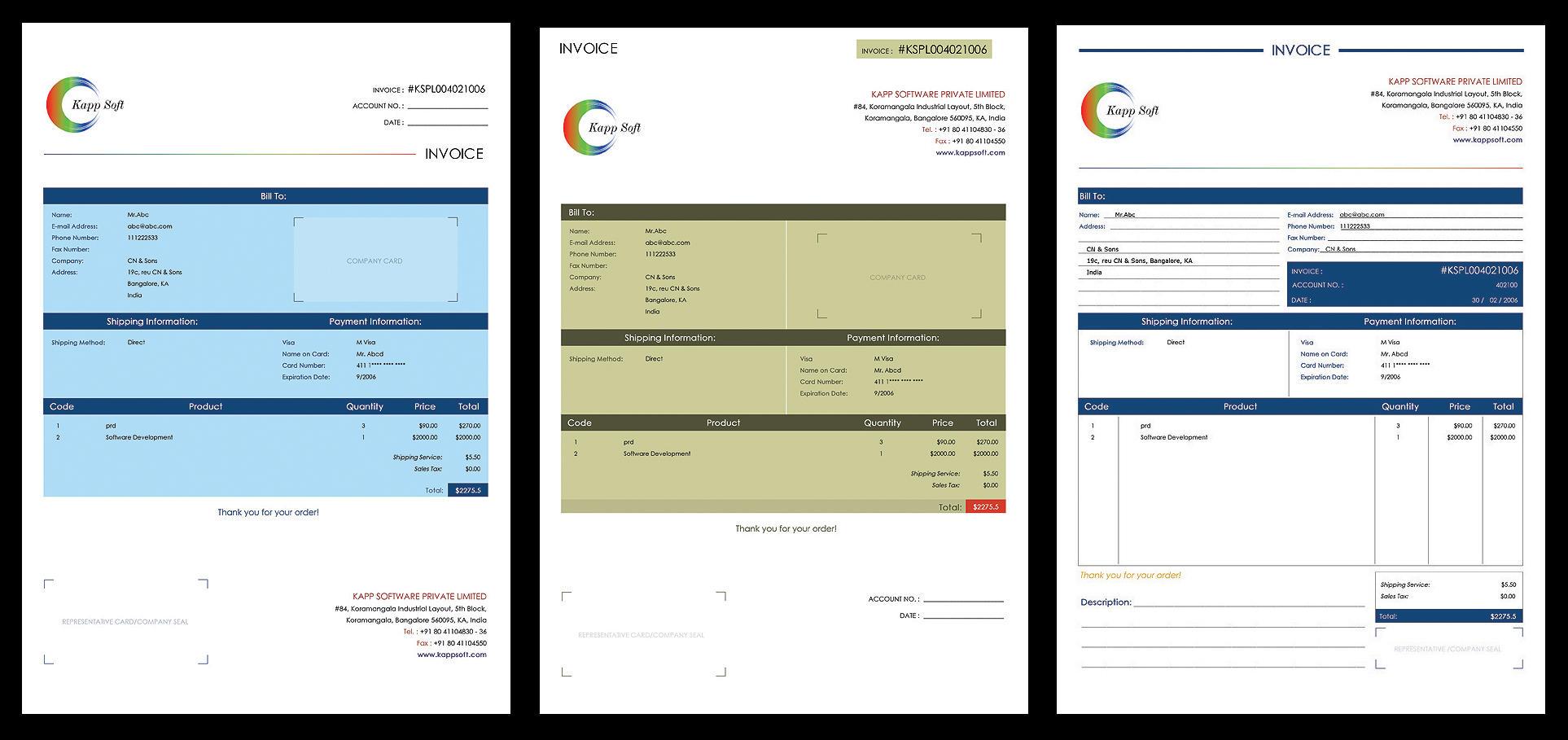 Invoice Design Options By Pulsetemple On DeviantArt - Invoice design software