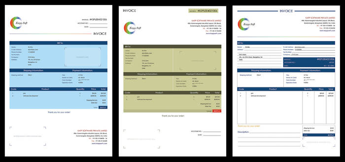 Invoice Design Options
