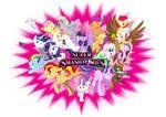 Super Smash Ponies - White BG