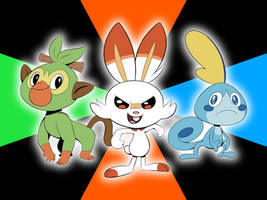The Galar Starters by MysteryFanBoy718