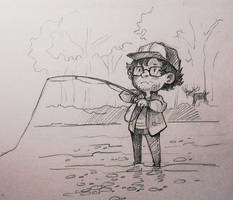 Will on fishing by Lis-Alis