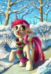Rose in winter park
