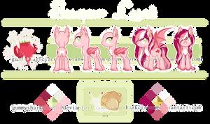 Pony Ref. Sheet Art Trade: Sugar Lust by gummysharkcircus