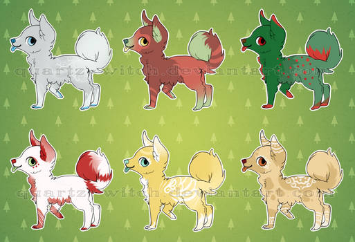 XMAS PUP ADOPTS OPEN 180 POINTS/$1.80