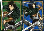 Levi and Mikasa