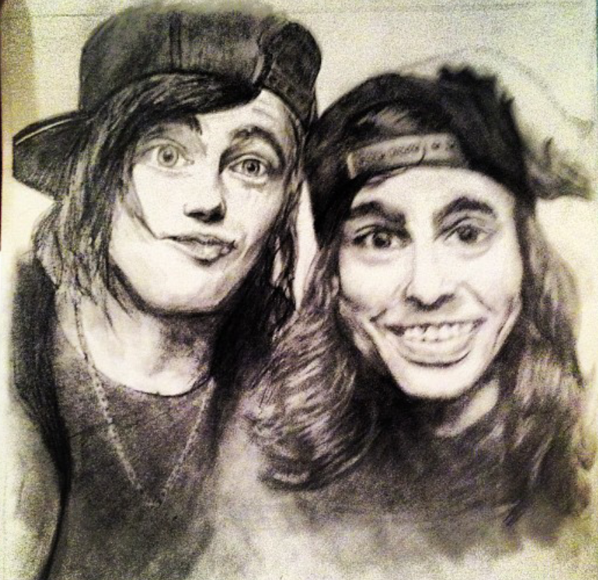 kellin quinn and vic fuentes drawing by corbinwells on