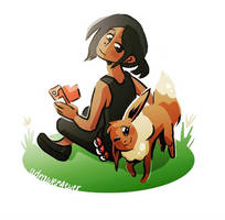 Eevee #CompareYourselfToAPokemon by adrawer4ever
