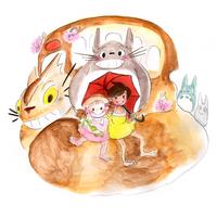 My Neighbor Totoro // Spring Girls by adrawer4ever