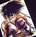 Commission // hajime no ippo by adrawer4ever