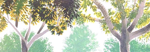 Plein Air Gouache // Park Trees by adrawer4ever
