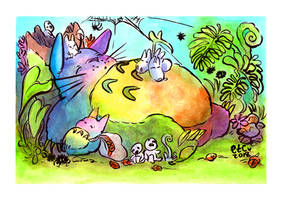 Totoro // Rainbow Nap by adrawer4ever