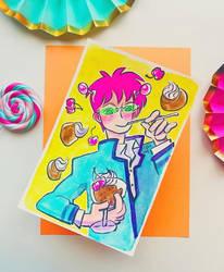 Disastrous Life of Saiki K. // Saiki x Coffe Jelly by adrawer4ever