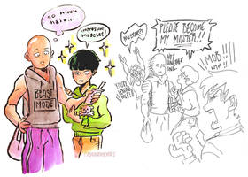 ONE Punch Man x Mob Psycho 100 by adrawer4ever