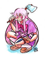 Commission // Future Diary Yuno Gasai by adrawer4ever