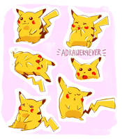 CHONKY PIKACHUS by adrawer4ever