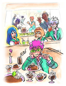 Disastrous Life of Saiki K. // Cafe