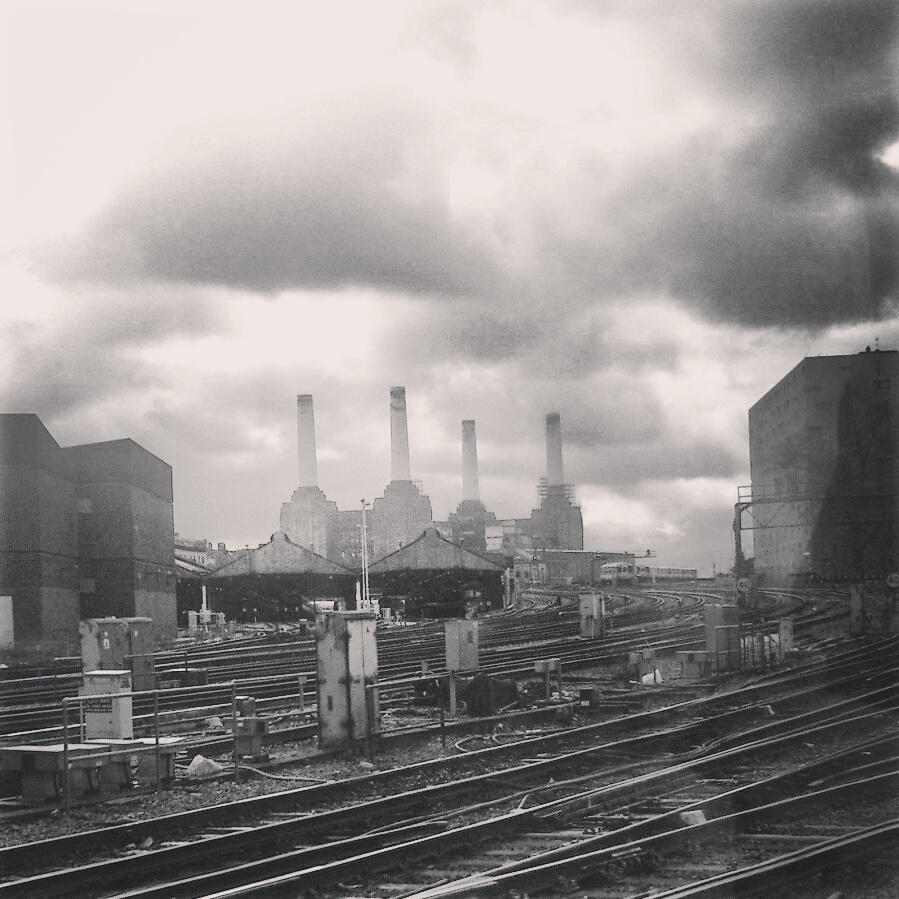 Battersea Power Station - View from the train by amyjls