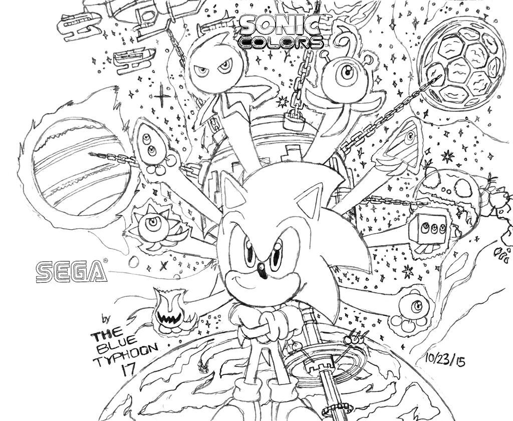 Sonic Colors Artwork by BlueTyphoon17