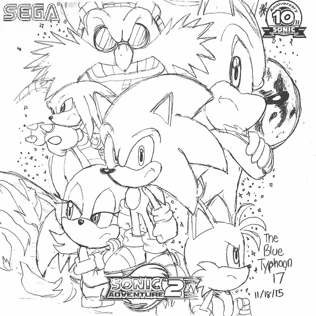 (LIVE AND LEARN!!!!!) Sonic Adventure 2 Artwork by BlueTyphoon17