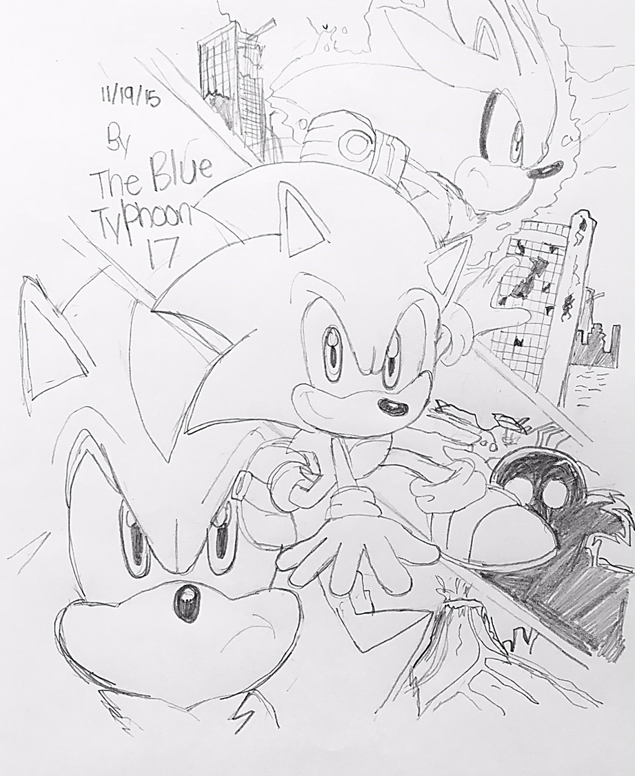 Sonic the Hedgehog (2006) Artwork by BlueTyphoon17