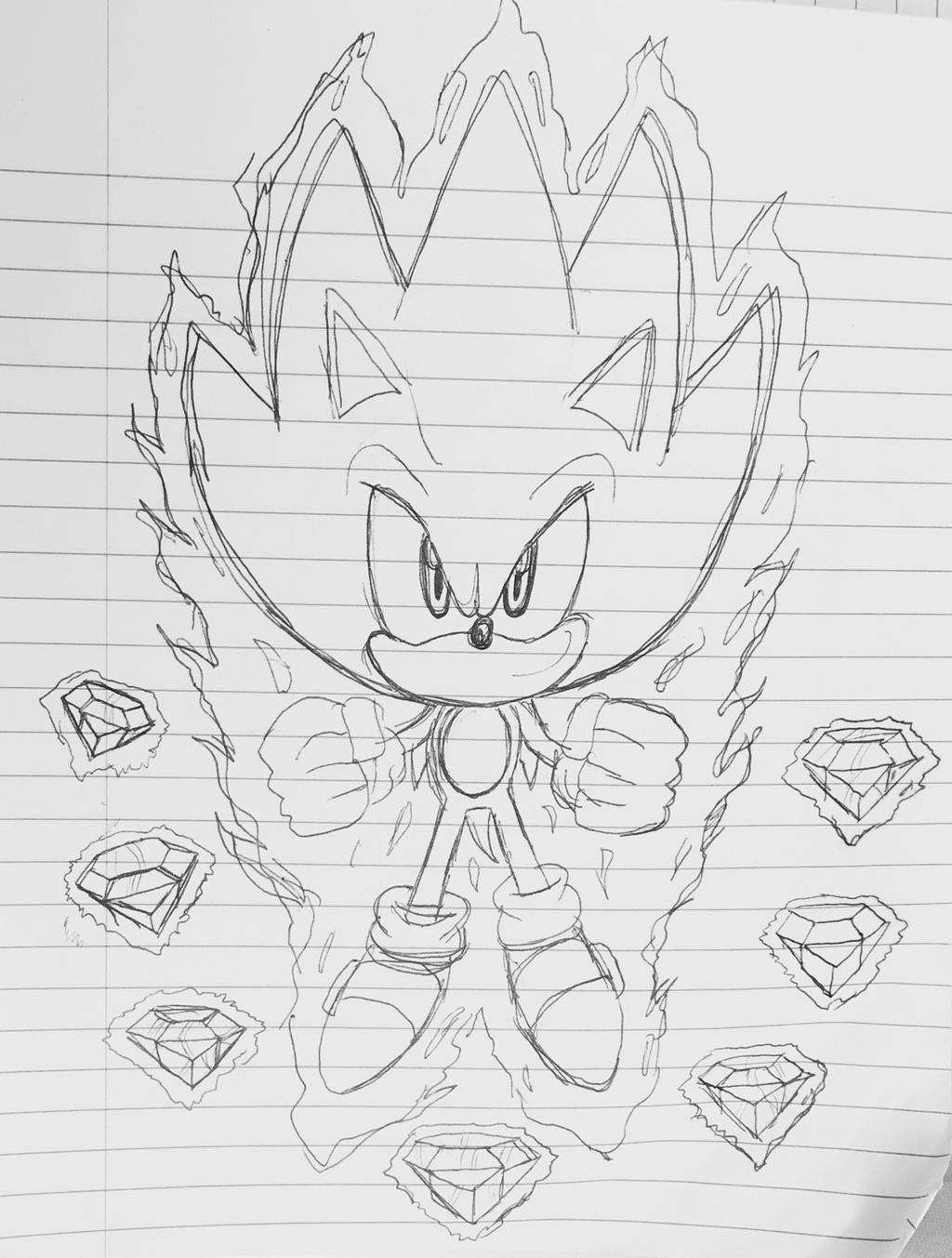 Super Sonic Artwork by BlueTyphoon17