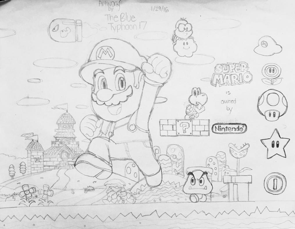 Super Mario Artwork by BlueTyphoon17