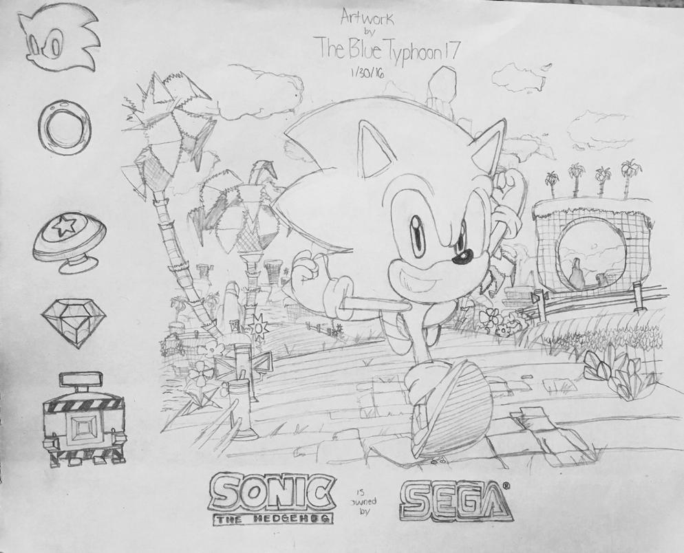 Sonic the Hedgehog Artwork by BlueTyphoon17