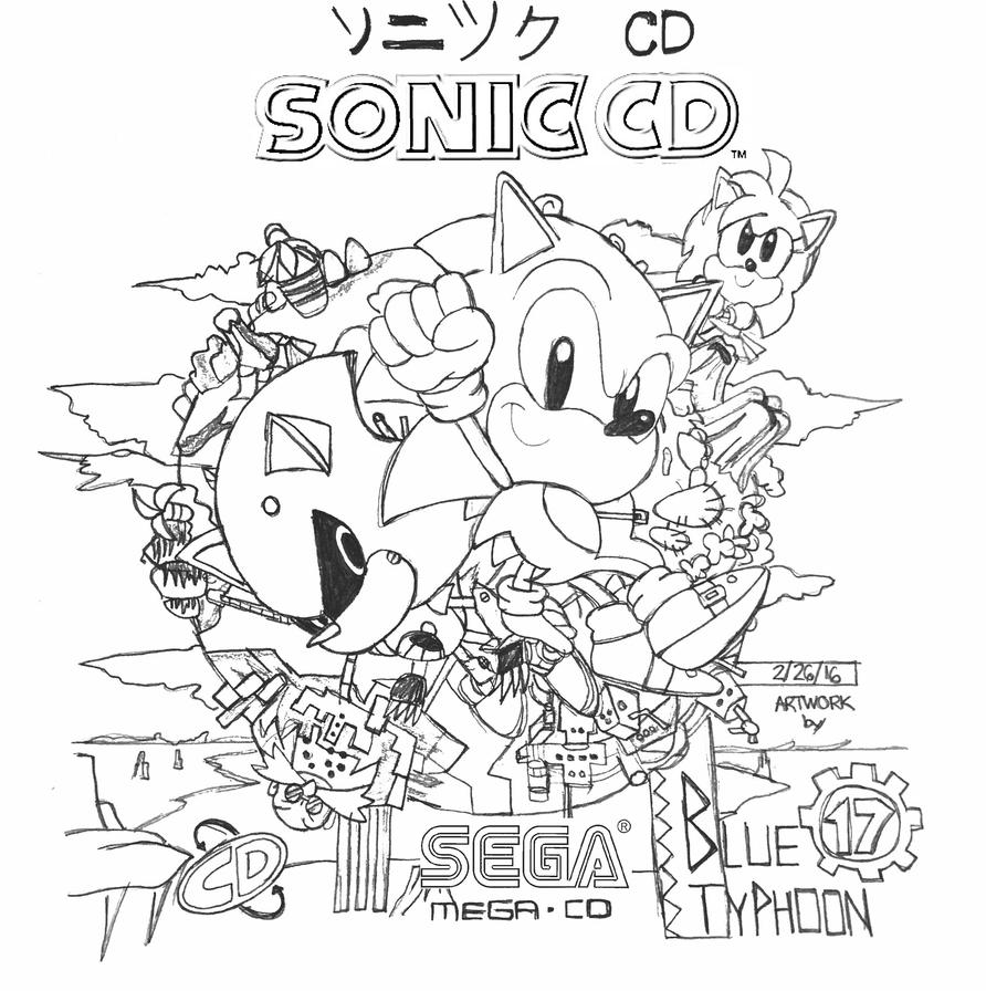 Sonic CD Artwork by BlueTyphoon17