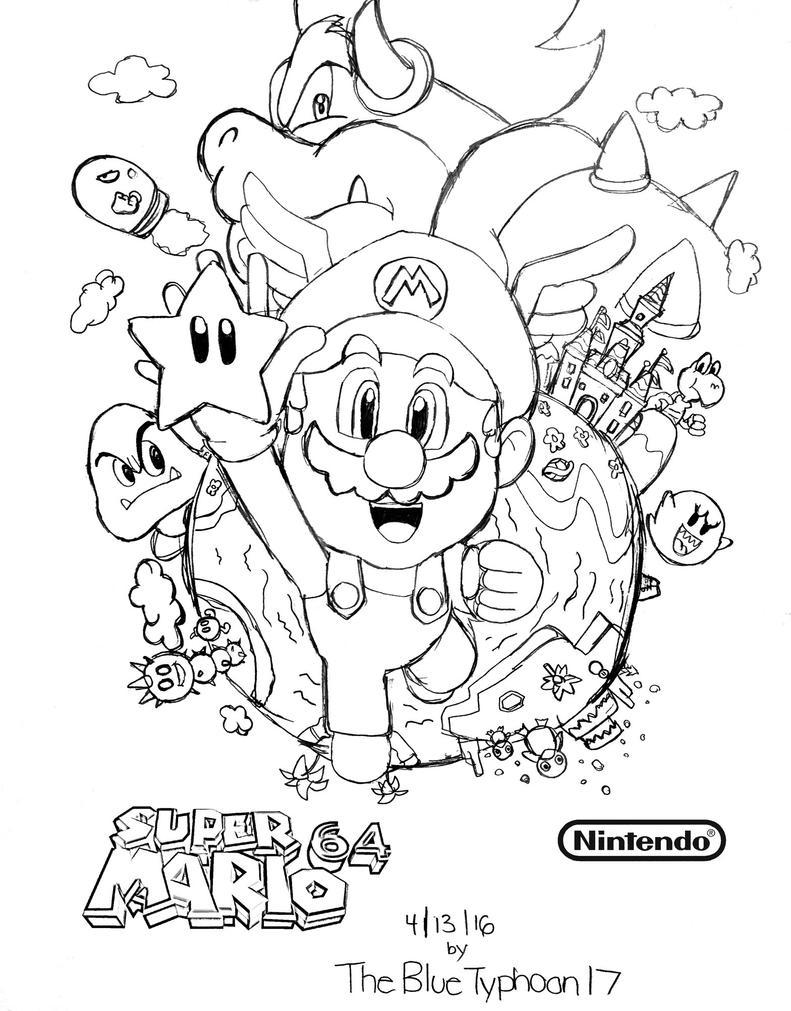 Super Mario 64 Artwork by BlueTyphoon17