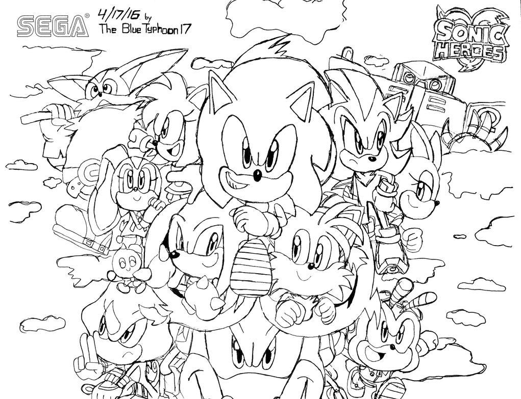 Sonic Heroes Artwork (REDO!) by BlueTyphoon17